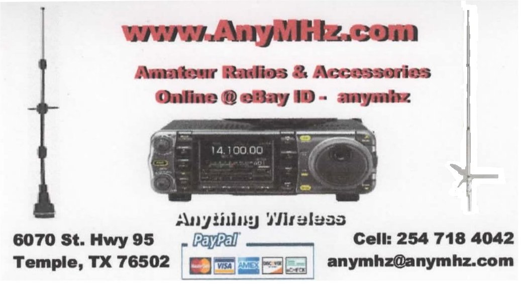 AnyMHz.com Amateur Radio Store / Car Stereos & More.. 254-718-4042 Email anymhz@anymhz.com